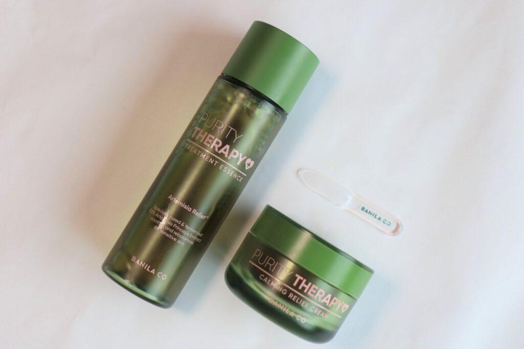 バニラコ BANILA CO Purity Therapy Treatment Essence 150ml / KRW 35,000、Purity Therapy Claming Relief Cream 50ml / KRW 32,000