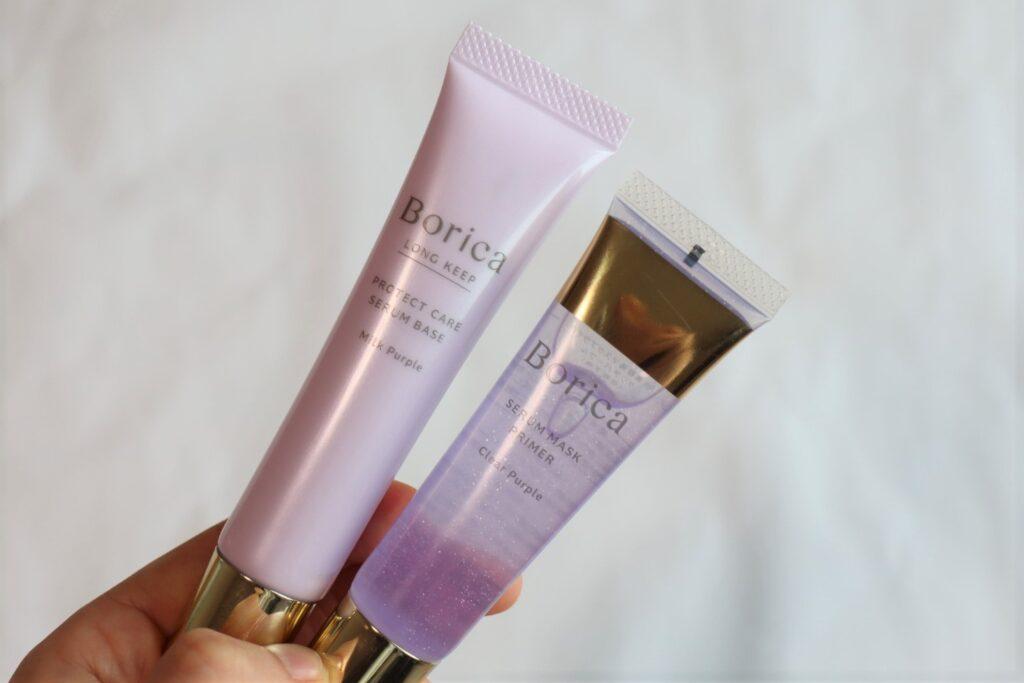 ボリカ Borica くずれ防止 美容液ケアベース ミルクパープル、美容液マスクプライマー クリアパープル